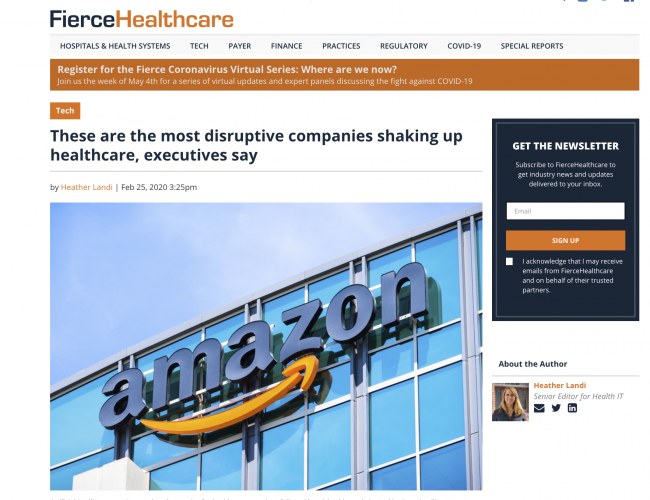 These are the most disruptive companies shaking up healthcare, executives say