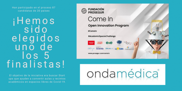 Ondamédica, elegida entre las 5 mejores startups del Come In – Open Innovation Program de Prosegur